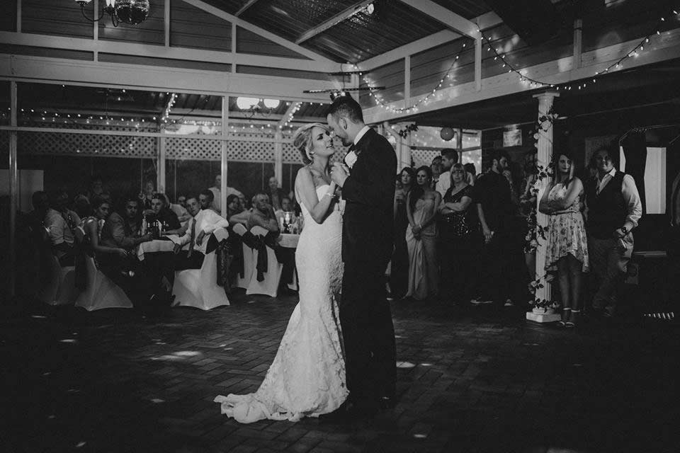 weddings bride and groom dance
