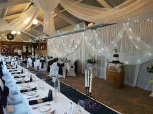 Venue is ready for wedding reception