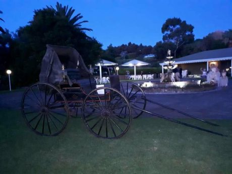 Wedding Venue grounds and gardens after sunset