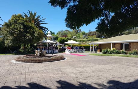Adelaide wedding venue. Wedding ceremony in progress